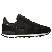 Buy Nike Internationalist Women's Trainers, Black/Grey Online at johnlewis.com