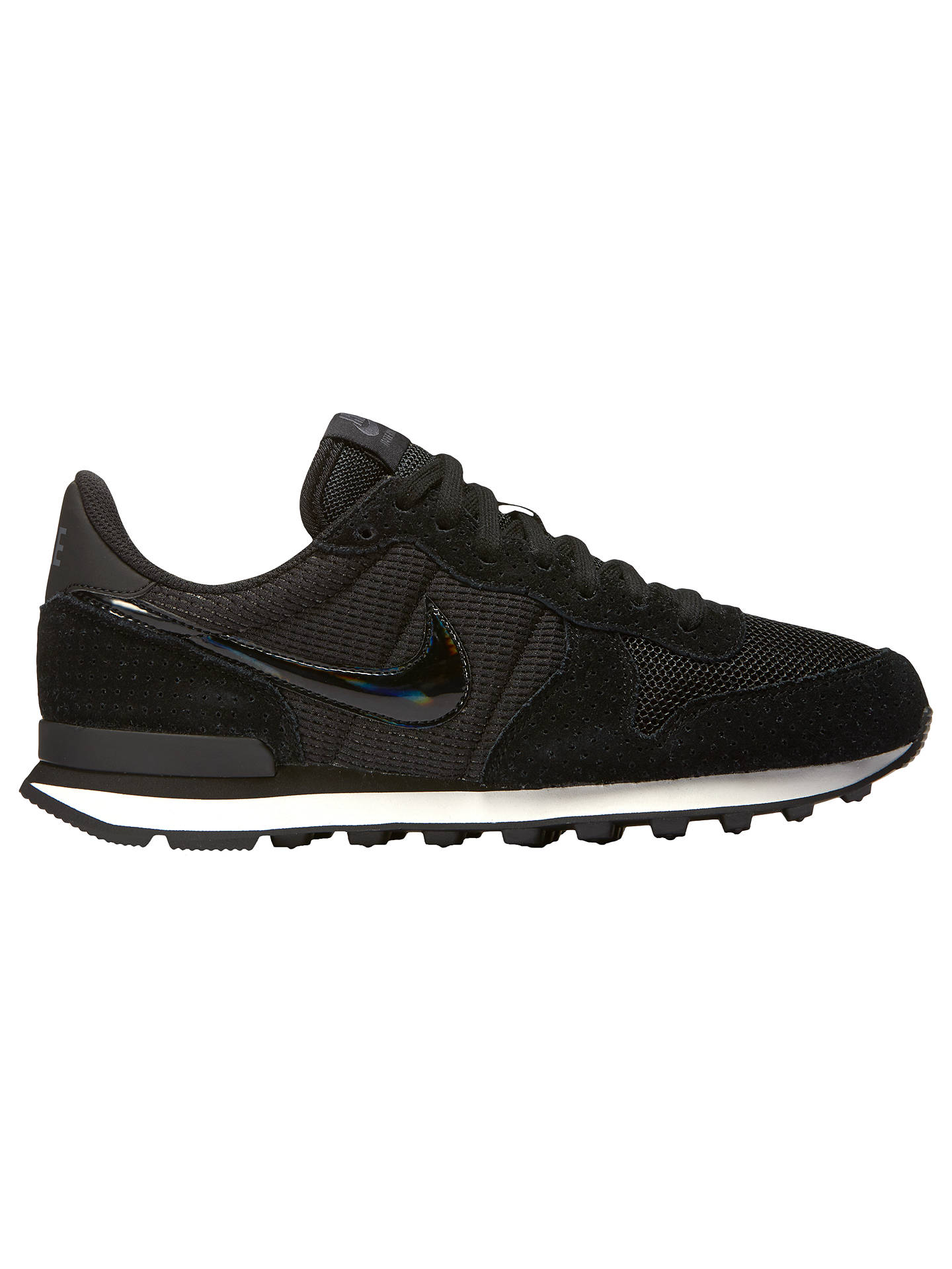 quality design 44006 2e272 Buy Nike Internationalist Women s Trainers, Black Grey, 4 Online at  johnlewis. ...