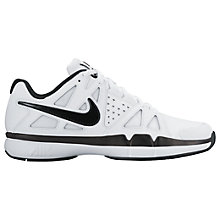 Buy Nike Air Vapor Advantage Leather Men's Tennis Shoes, White/Black Online at johnlewis.com