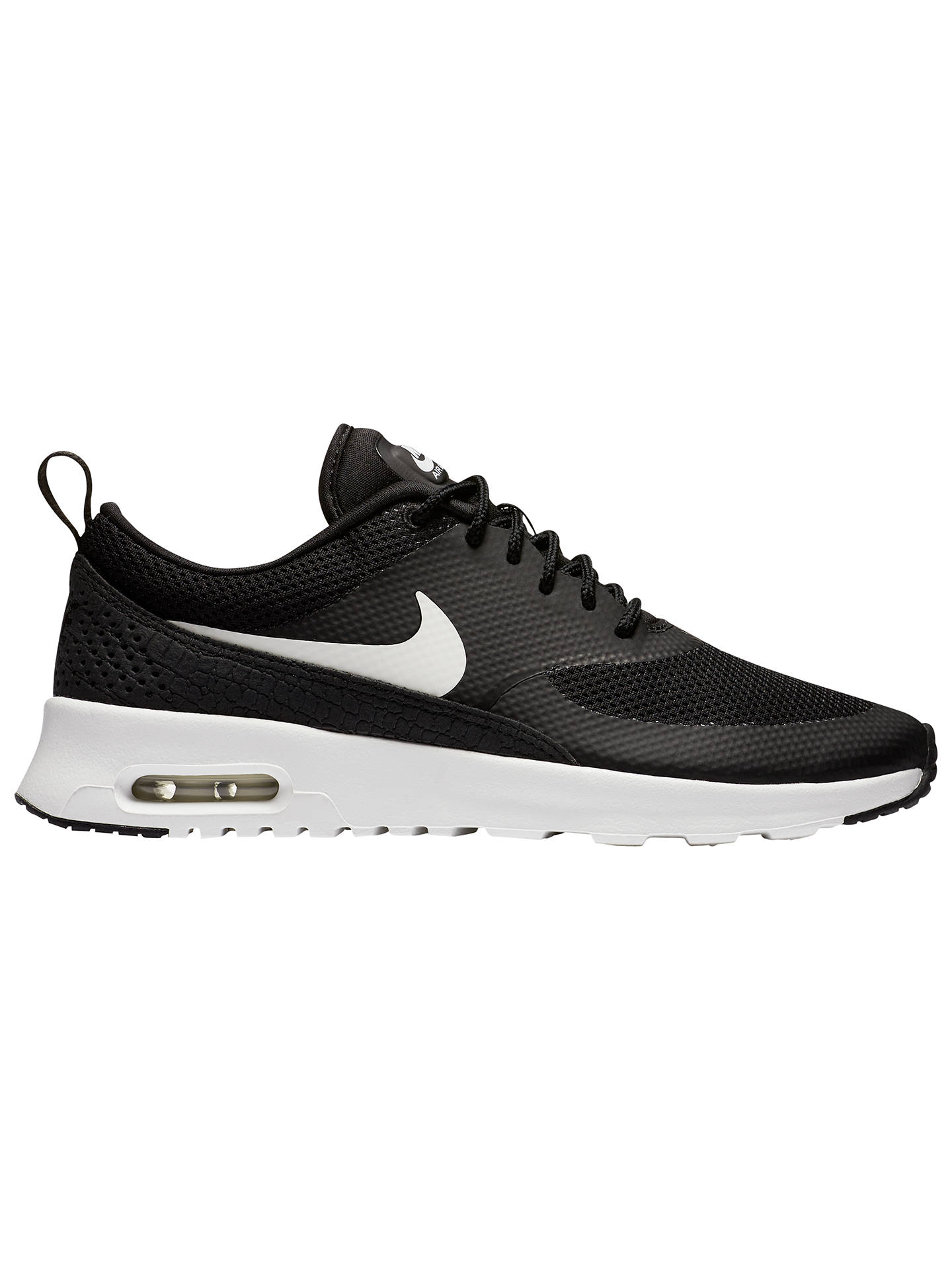 new style 4d316 5ba1b Buy Nike Air Max Thea Women s Trainers, Black White, 4 Online at johnlewis  ...