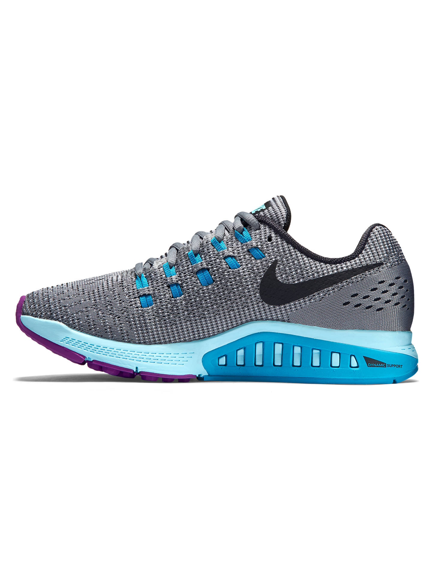 super popular e1593 44ead ... Buy Nike Air Zoom Structure 19 Women s Running Shoes, Grey Multi, 4  Online ...