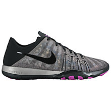 Buy Nike Free TR 6 Women's Cross Trainers, Metallic Silver/Hyper Violet Online at johnlewis.com