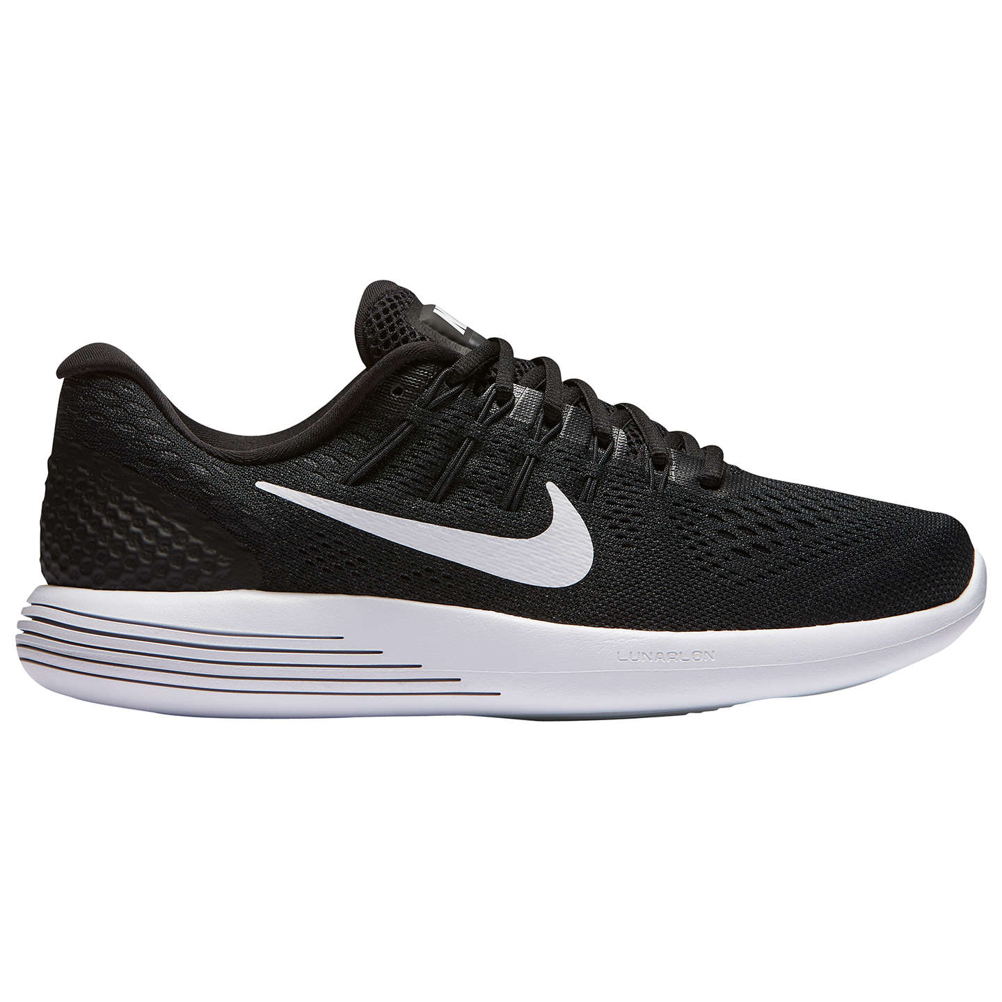 BuyNike LunarGlide 8 Women's Running Shoes, Black/White, 4 Online at  johnlewis.