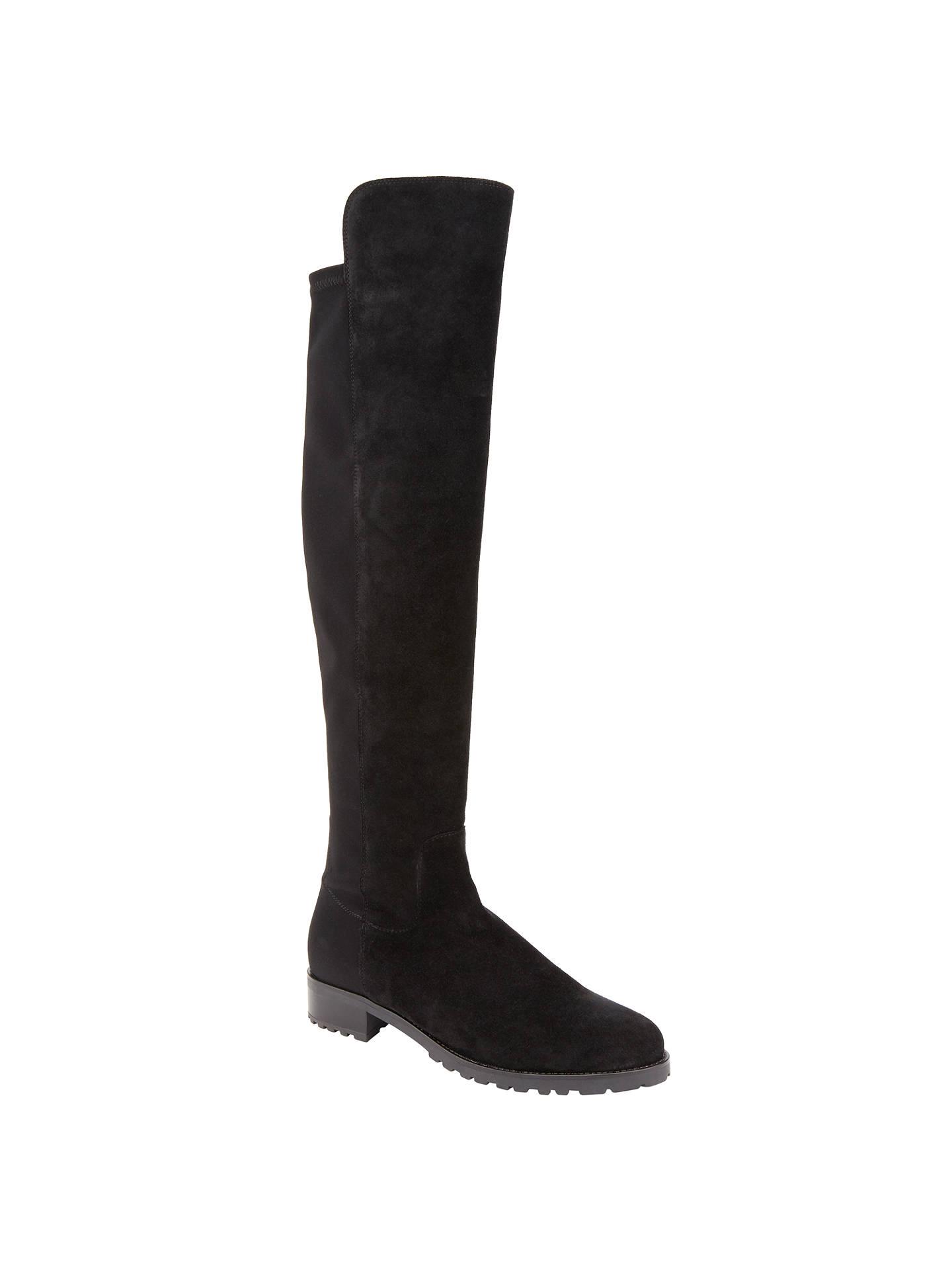 1821181ee Buy John Lewis Tilde Over the Knee Boots, Black Suede, 3 Online at  johnlewis ...