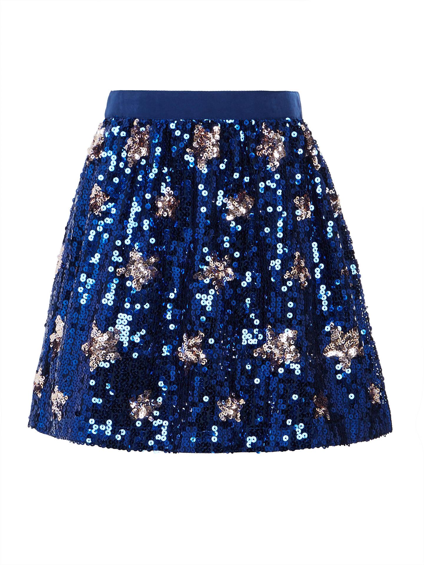 de8bebe2a9 Buy John Lewis Girls' Sequin Star Skirt, Navy, 3 years Online at johnlewis  ...