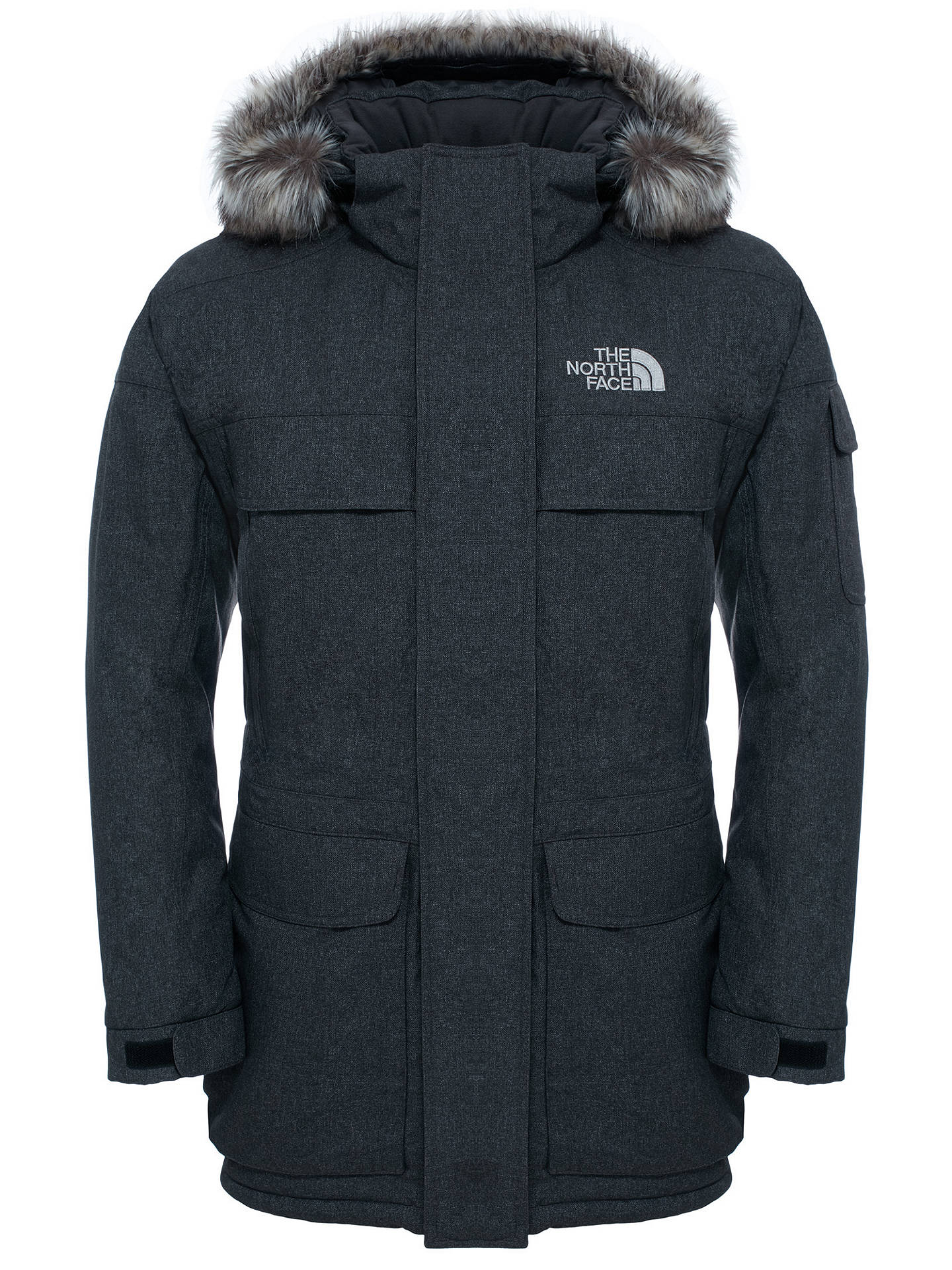 6d56aa6cd The North Face Men's Murdo Waterproof Parka Jacket, Grey at John ...