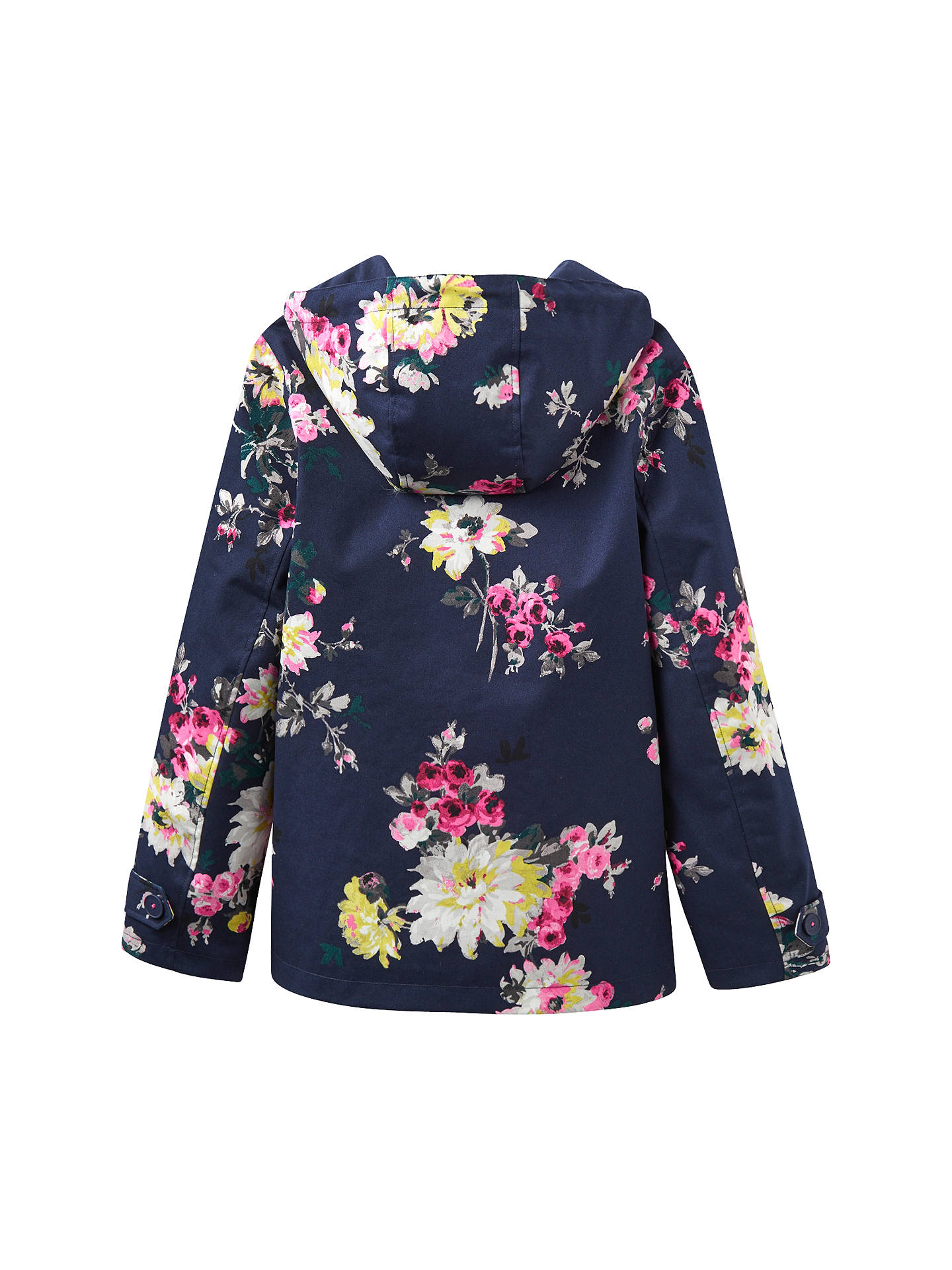 4786e0edff8b ... Buy Joules Right as Rain Coast Waterproof Printed Jacket, French Navy  Floral, 8 Online ...