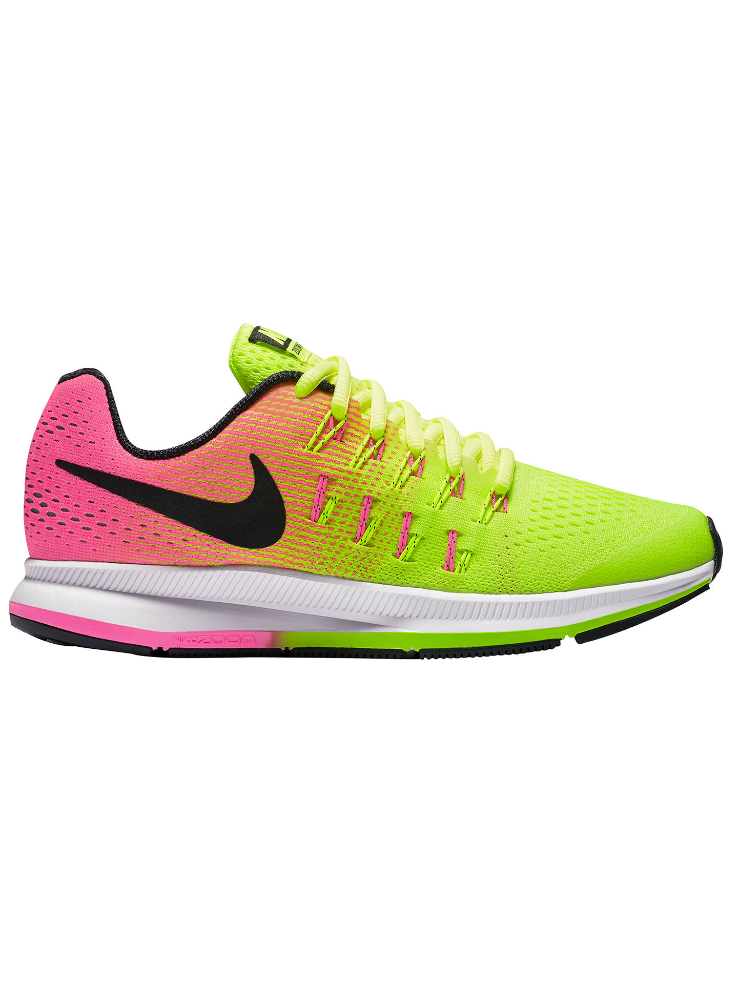 BuyNike Childrens Air Zoom Pegasus 33 Running Shoes, VoltPink Blast, 1  Online ...