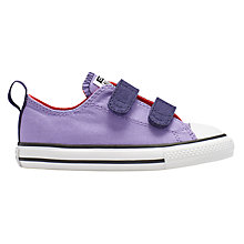 Buy Converse Children's Chuck Taylor All Star Double Rip-Tape Shoes, Lilac Online at johnlewis.com