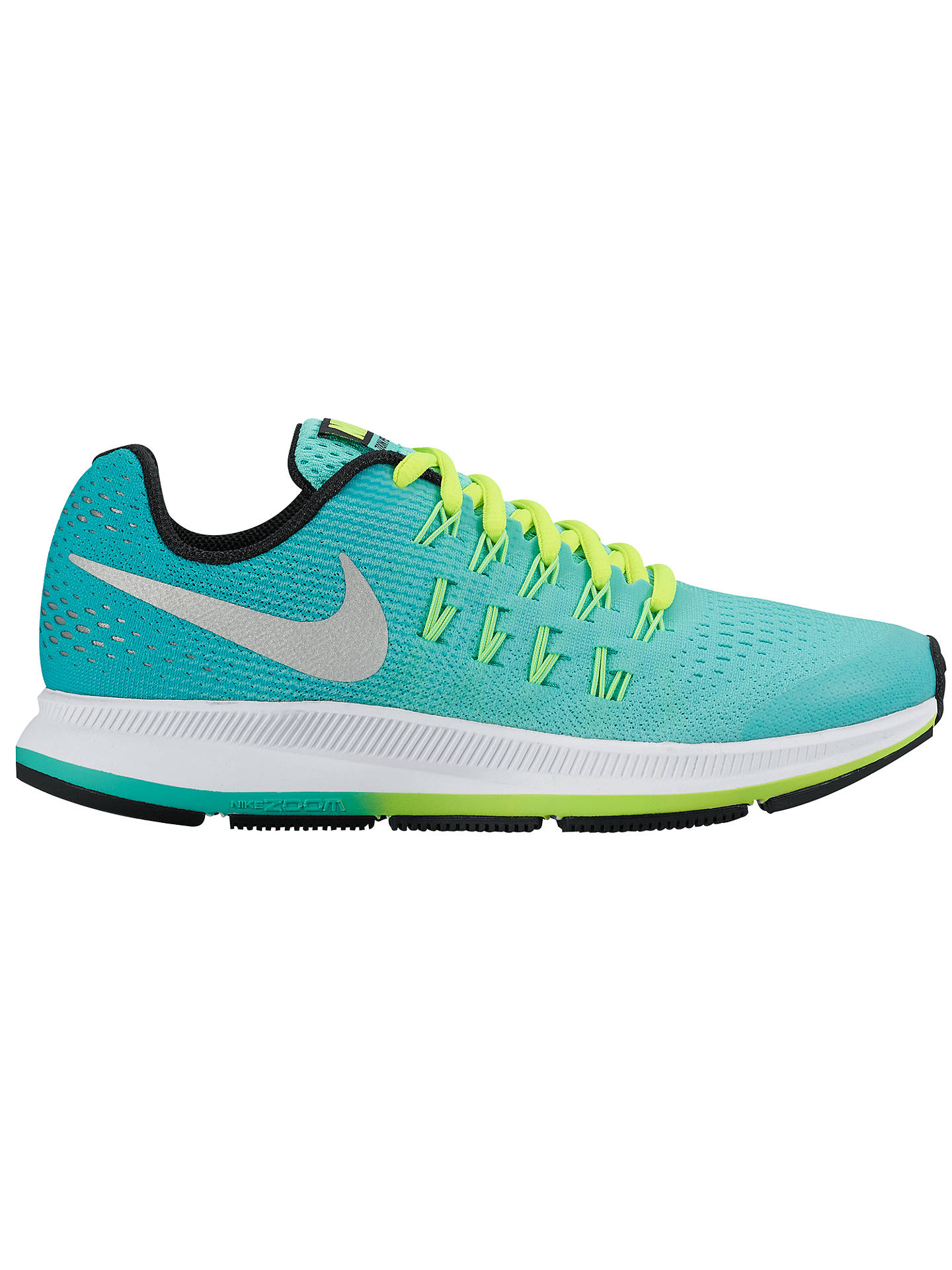 BuyNike Childrens Air Zoom Pegasus 33 Running Shoes, Hyper  TurquoiseMetallic Silver, 1 ...