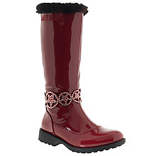 Buy Lelli Kelly Children's Ann High Vernice Faux Fur Lined Boots, Red Patent Online at johnlewis.com