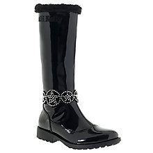 Buy Lelli Kelly Children's Ann High Vernice Faux Fur Lined Boots, Black patent Online at johnlewis.com