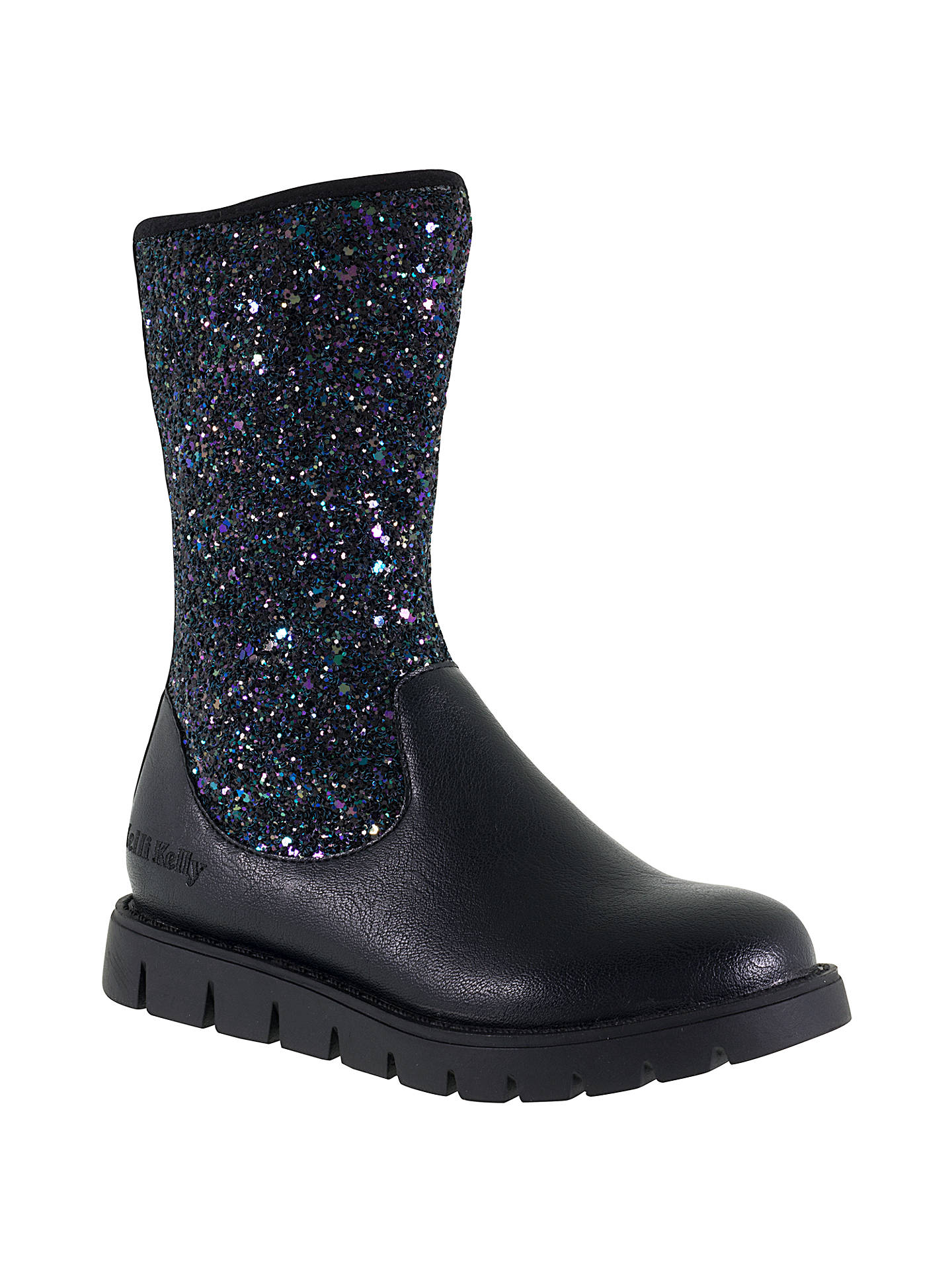 79556202 Buy Lelli Kelly Children's Glamour Nero Glitter Boots, Black, 28 Online at  johnlewis.