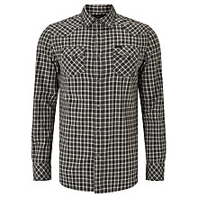 Buy Diesel S-Zule Long Sleeve Check Shirt, Grey/Black Online at johnlewis.com