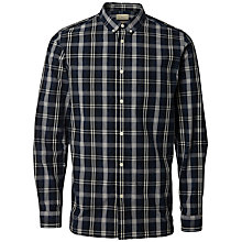 Buy Selected Homme Andreas Checked Shirt, Navy Blue Online at johnlewis.com