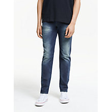 Buy Diesel Buster 0853R Tapered Jeans, Mid Wash Online at johnlewis.com