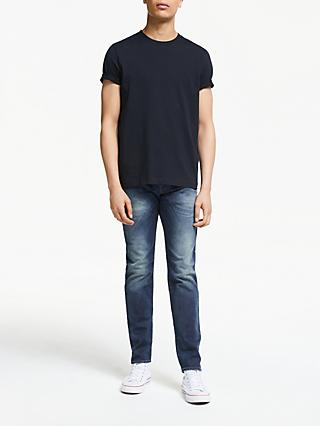 Diesel Buster 0853R Tapered Jeans, Mid Wash