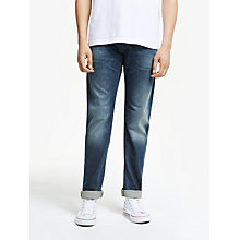 Buy Diesel Larkee 0853R Straight Jeans, Mid Wash Online at johnlewis.com