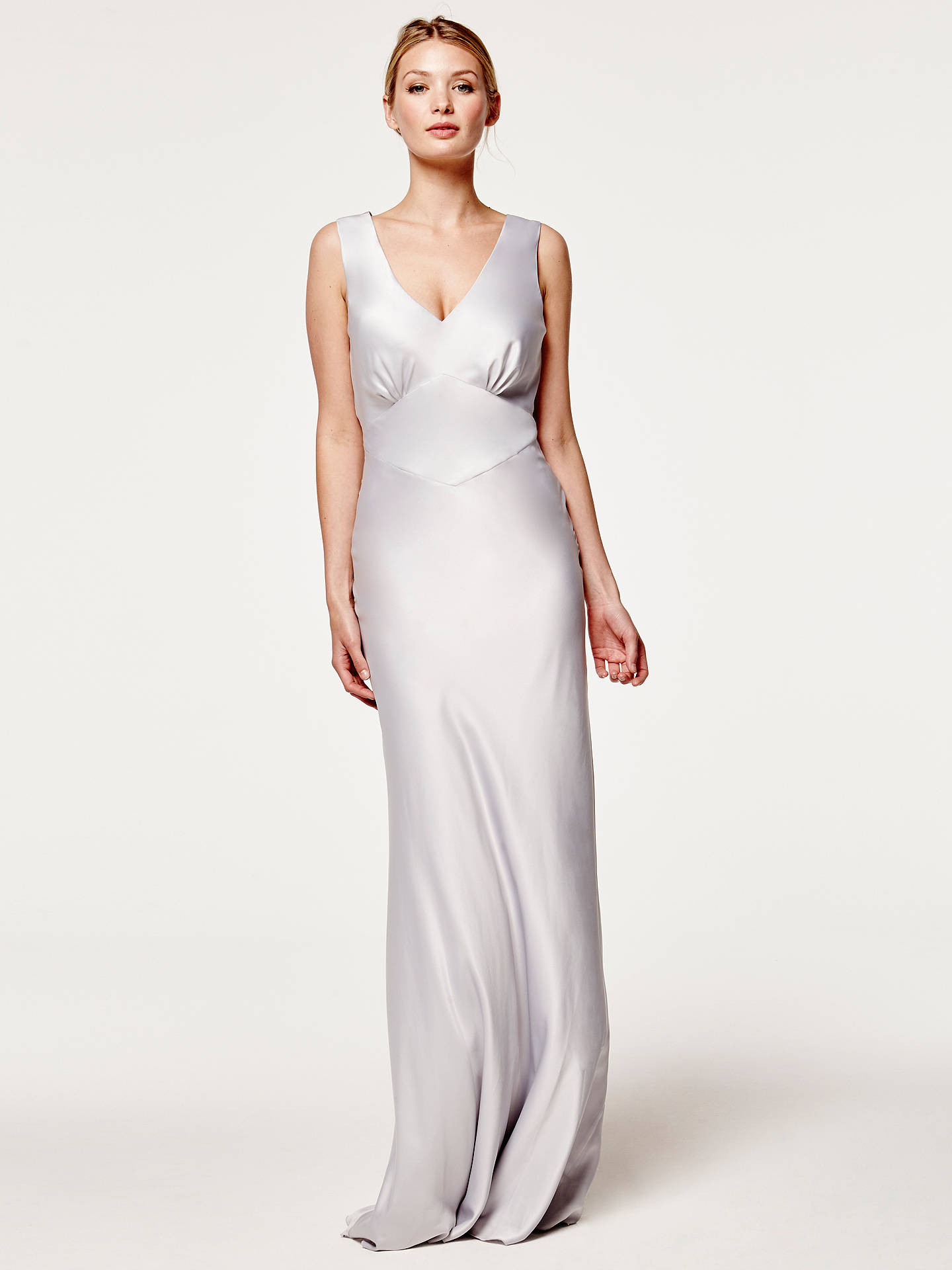 Buy Maids to Measure Peony Dress, Dove Grey, 16 Online at johnlewis.com