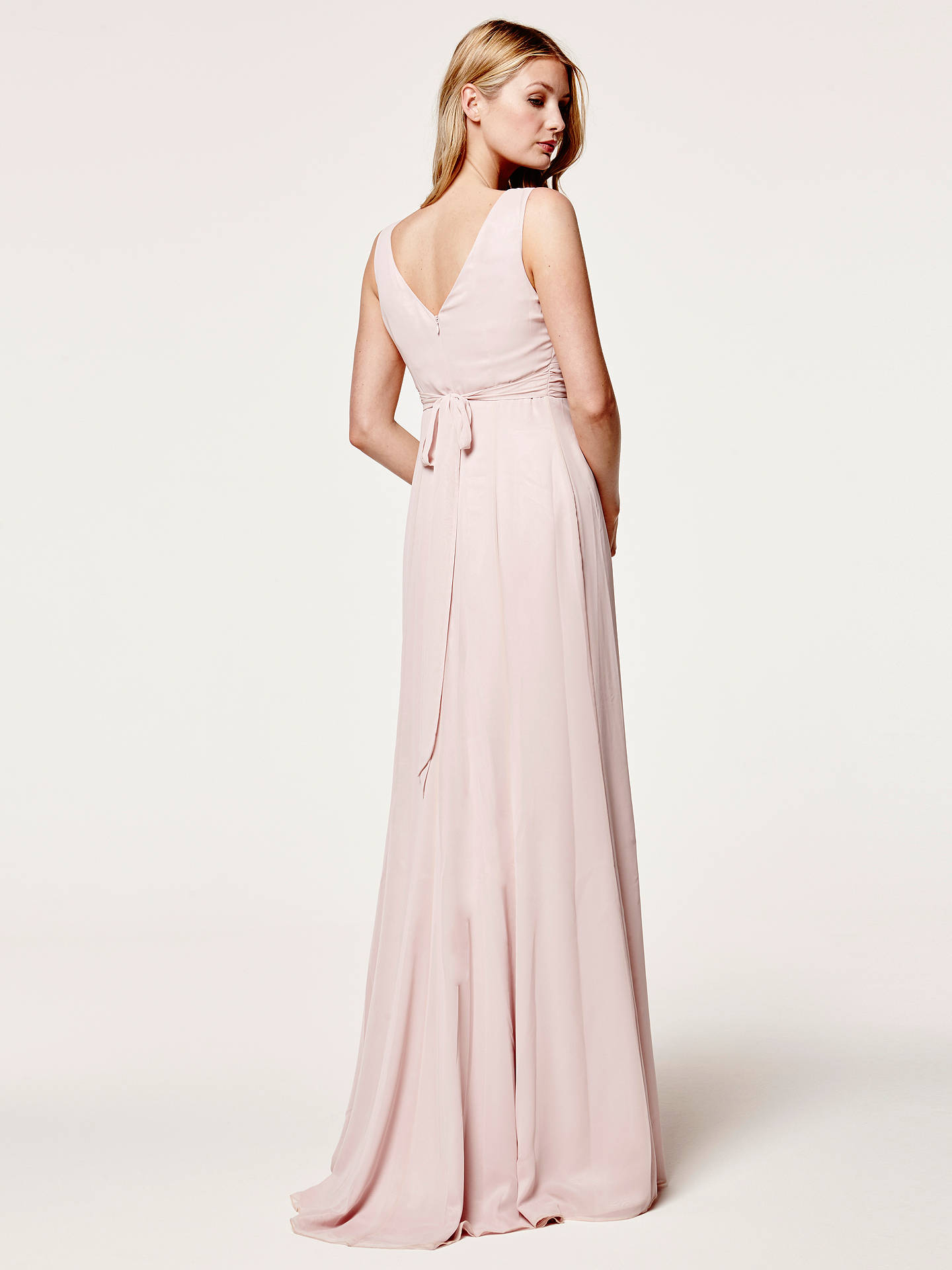 Buy Maids to Measure Lisette Fitted V Neck Maxi Dress, Blossom, 18 Online at johnlewis.com