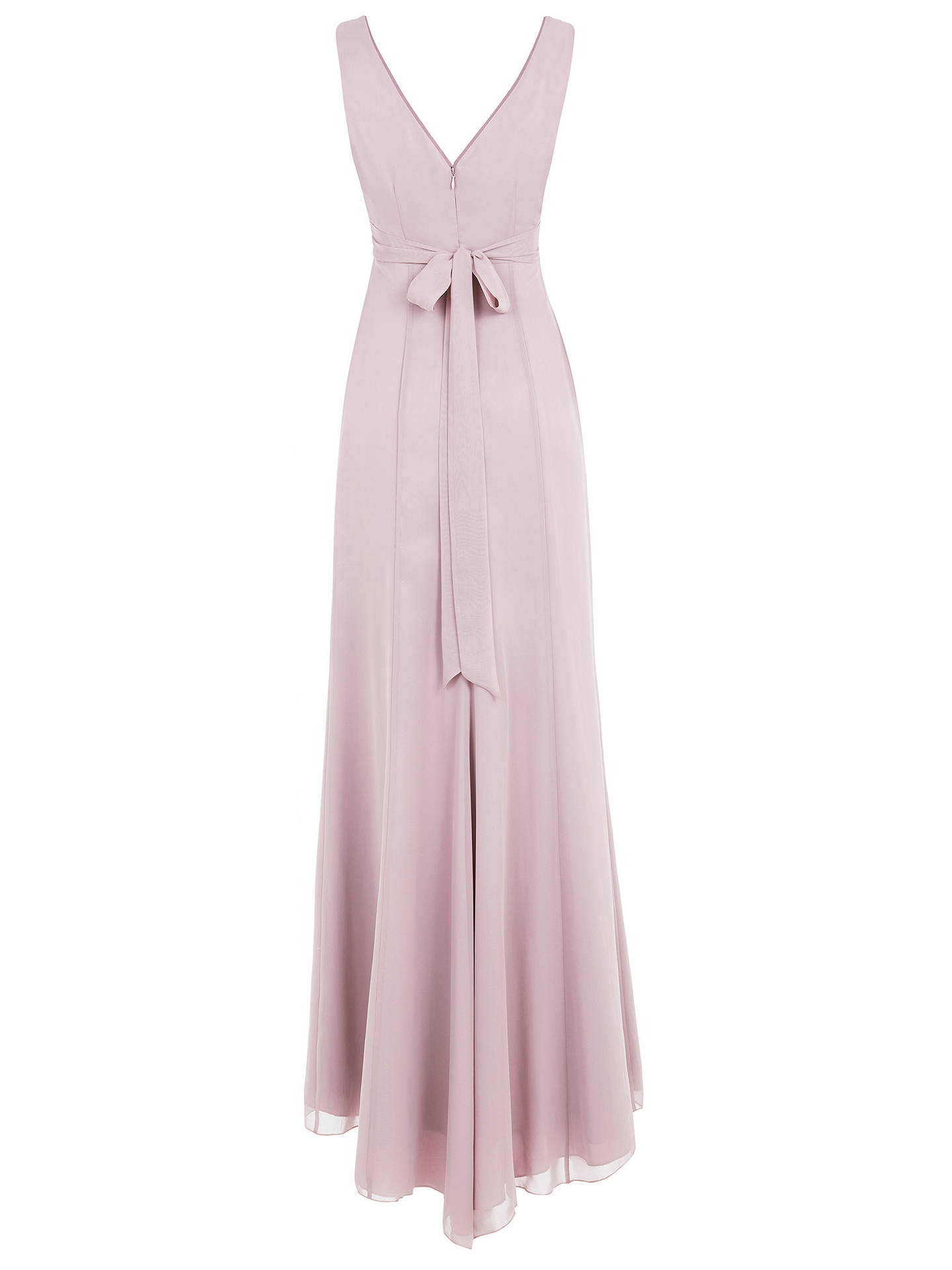 Buy Maids to Measure Lisette Fitted V Neck Maxi Dress, Frosted Fig, 14 Online at johnlewis.com