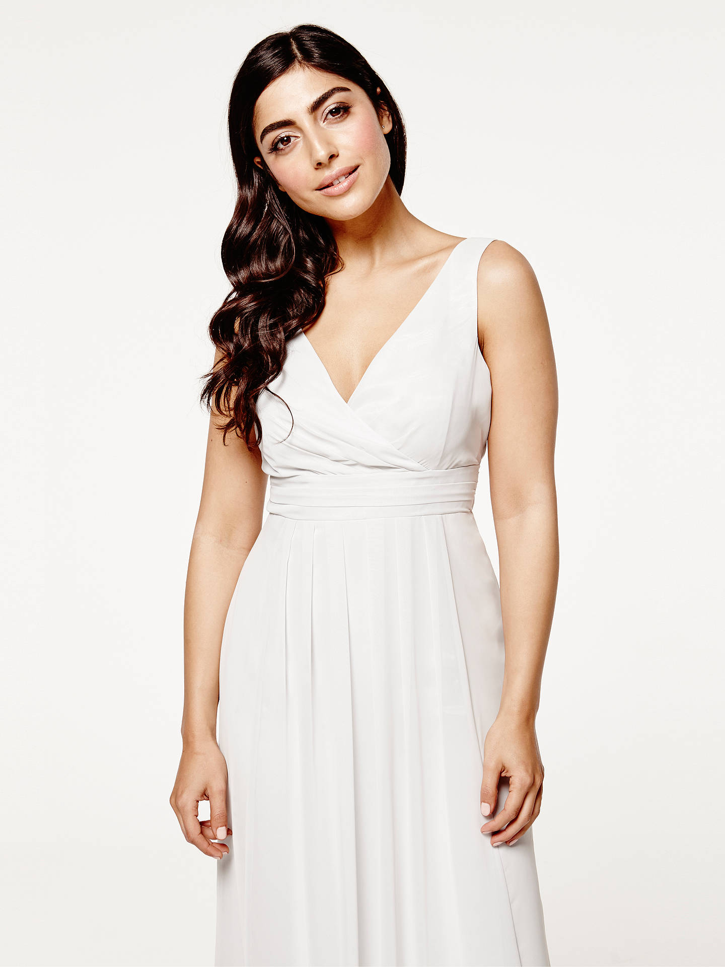 Buy Maids to Measure Lisette Floaty Dress, Dove Grey, 8 Online at johnlewis.com