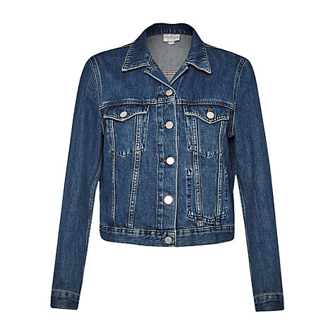 Buy French Connection Micro Western Denim Jacket, Tinted Vintage Online at johnlewis.com