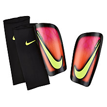 Buy Nike Adult Mercurial Lite Shin Pads, Pink Blast/Black Online at johnlewis.com