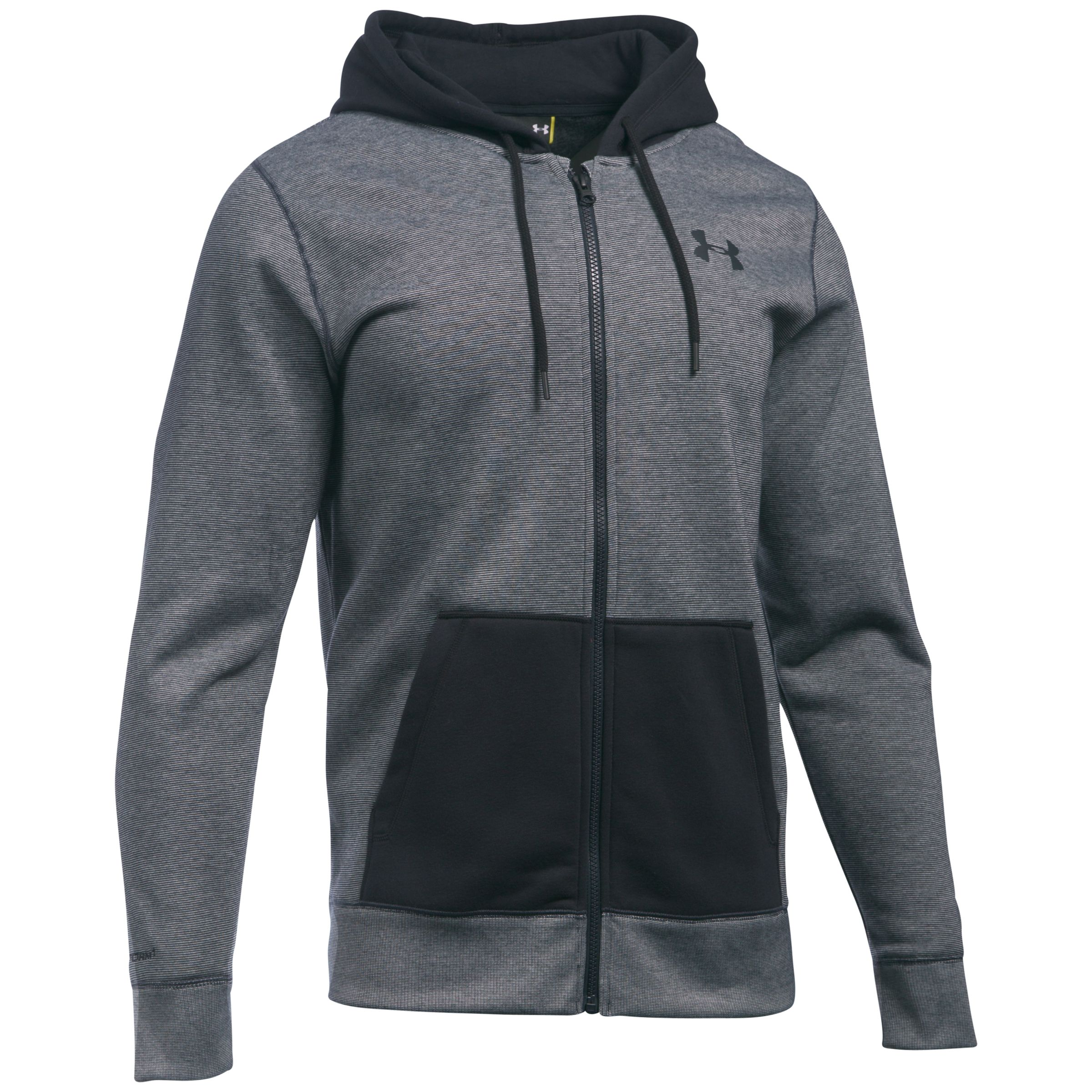 e4342e7f9 Under Armour Storm Rival Fleece Patterned Full Zip Hoodie, Black at John  Lewis & Partners