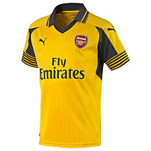 Buy Puma Children's Arsenal F.C. 2016/17 Away Football Shirt, Yellow/Blue Online at johnlewis.com