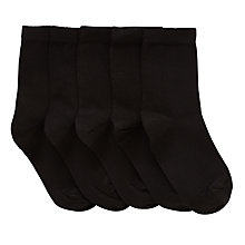 Buy John Lewis Children's Cotton Rich Socks, Pack of 5 Online at johnlewis.com