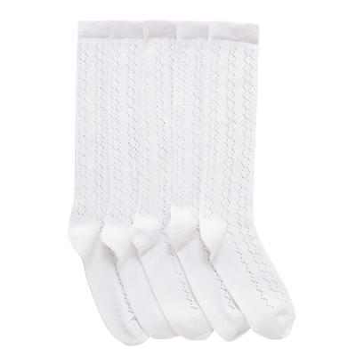 John Lewis Children's Knee High Pellerine Socks, Pack of 5, White