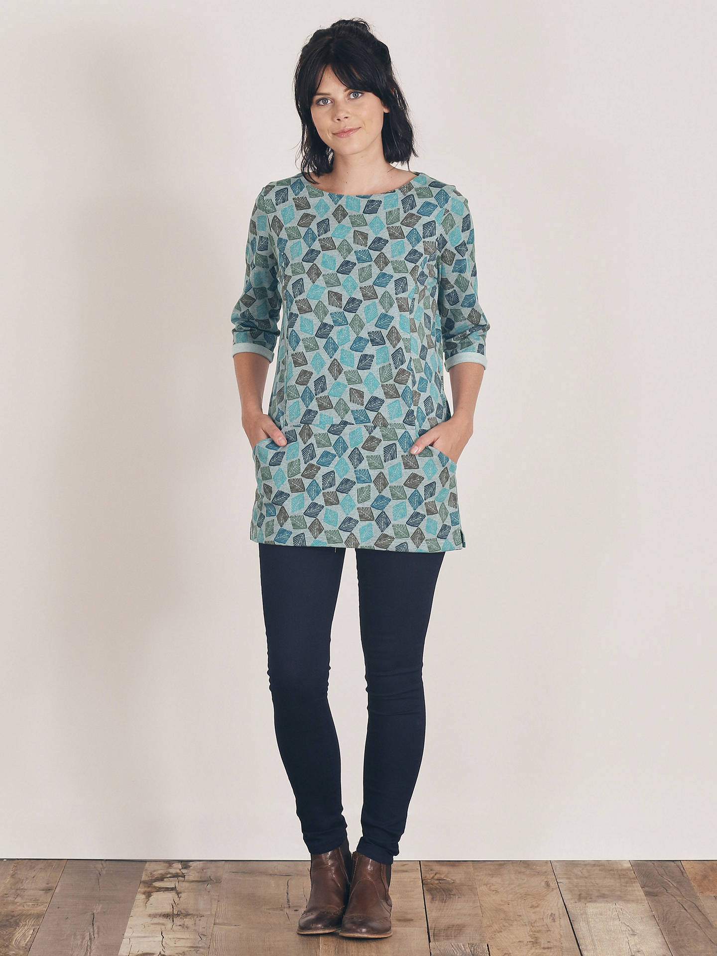 5278f1ce510 ... Buy Seasalt Trewoon Tunic Top, Diamond Stamp, 8 Online at johnlewis.com  ...