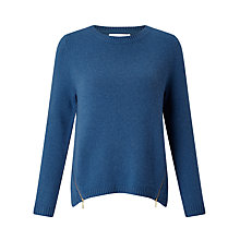 Buy Collection WEEKEND by John Lewis Zip Front Crew Neck Jumper Online at johnlewis.com