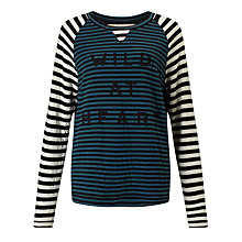 Buy Collection WEEKEND by John Lewis Wild At Heart Top, Black/Green/White Online at johnlewis.com