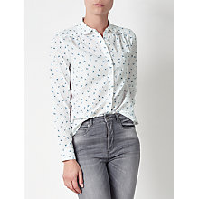 Buy Collection WEEKEND by John Lewis Indiana Shirt, White/Blue Online at johnlewis.com