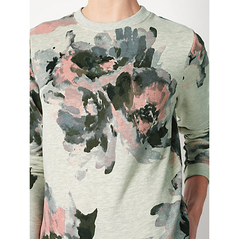 Buy Collection WEEKEND by John Lewis Watercolour Print Sweatshirt, Grey Online at johnlewis.com