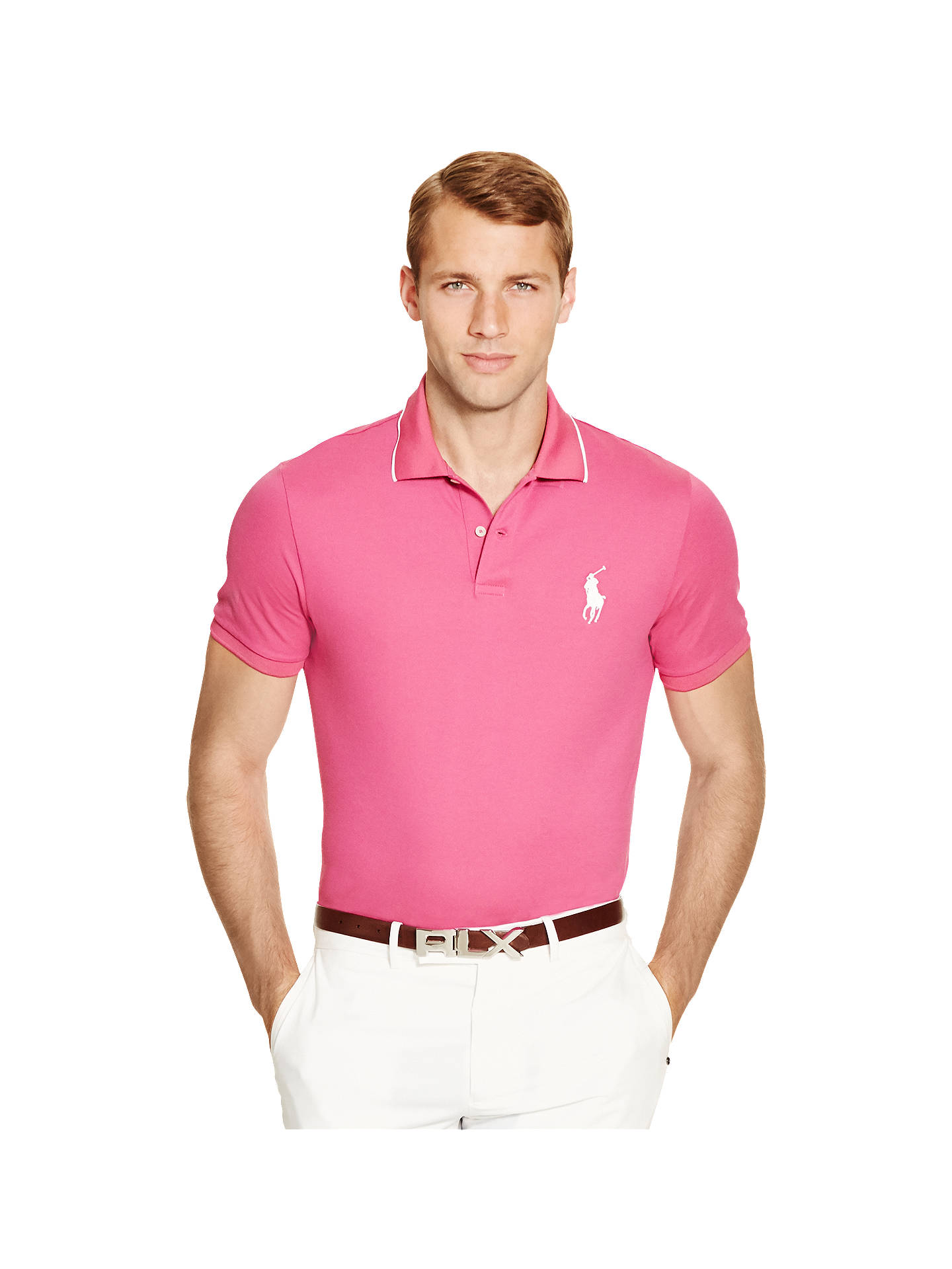 0489311a4 Buy Polo Golf by Ralph Lauren Pro Fit Polo Shirt, Kingston Rose, S Online  ...