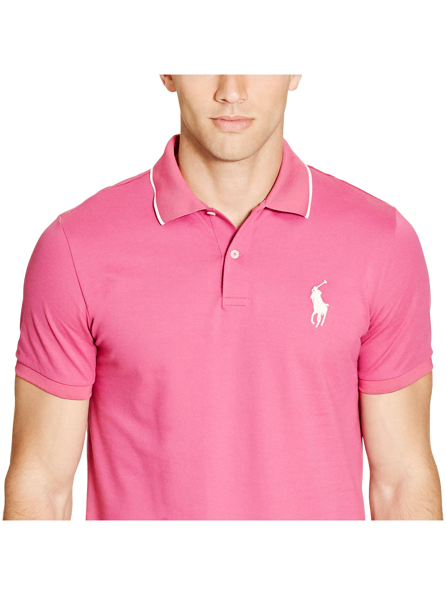 072ba8609 ... Buy Polo Golf by Ralph Lauren Pro Fit Polo Shirt, Kingston Rose, S  Online ...