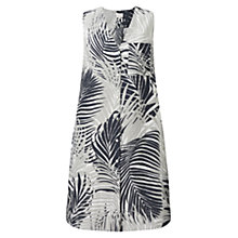 Buy East Mika Palm Print Dress, Black Online at johnlewis.com