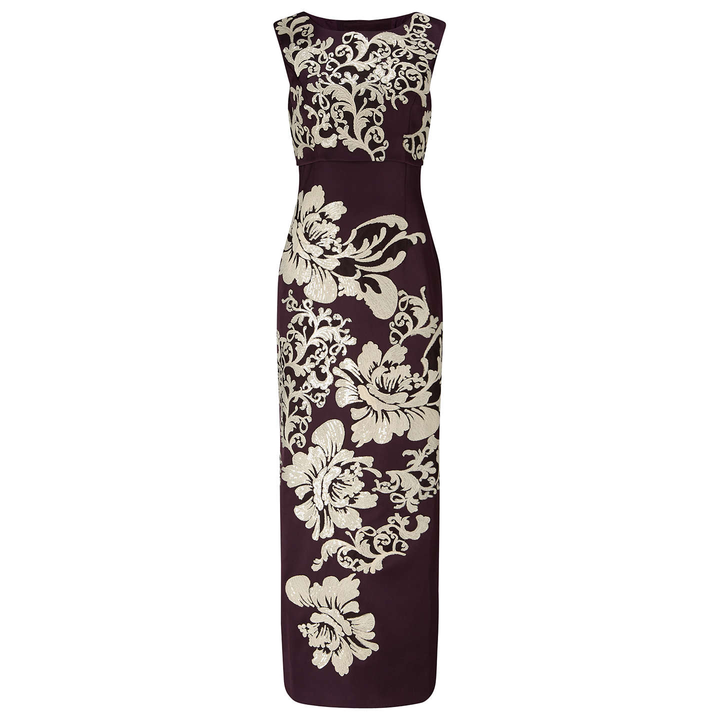 Phase Eight Collection 8 Doris Embroidered Maxi Dress, Aubergine at ...