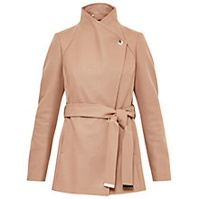 Buy Ted Baker Short Wrap Collar Coat, Camel Online at johnlewis.com