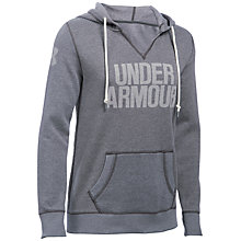 Buy Under Armour Favourite Fleece Hoodie, Grey Online at johnlewis.com