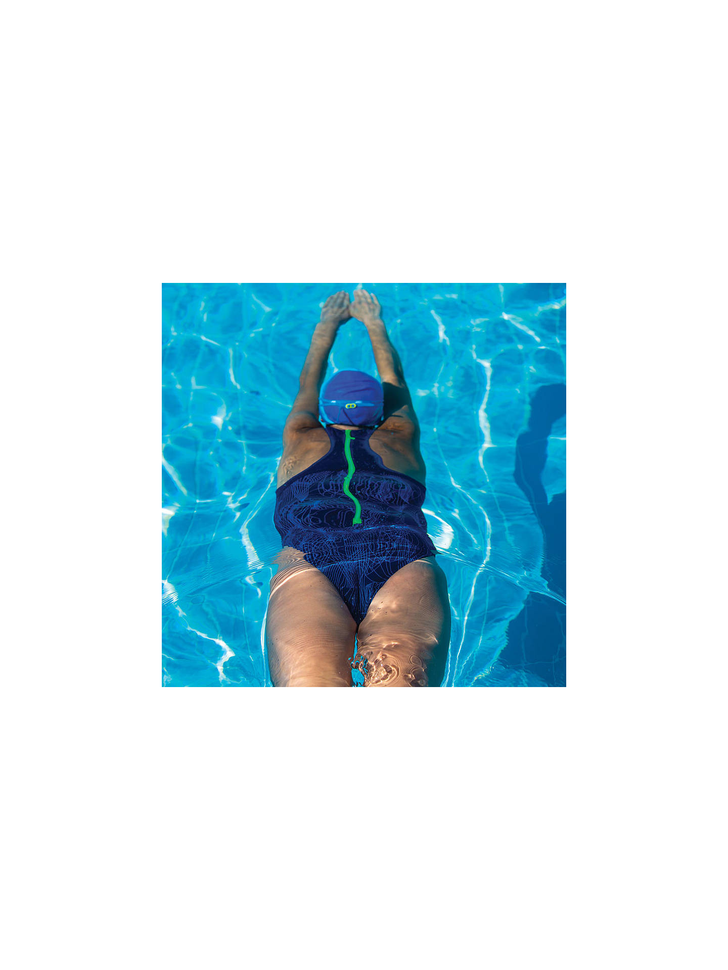 2990296349e ... Buy Zoggs Concord Zip Back Swimsuit, Navy, 8 Online at johnlewis.com
