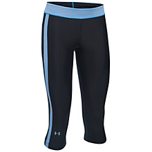 Buy Under Armour HeatGear Sport Capris, Black/Blue Online at johnlewis.com