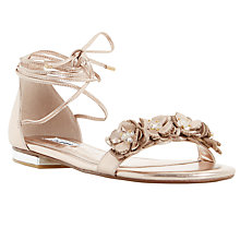 Buy Dune Nigella Floral Tie Sandals Online at johnlewis.com
