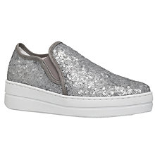 Buy Kurt Geiger Louie Sequin Flatform Trainers Online at johnlewis.com