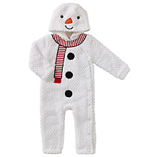Buy John Lewis Baby Snowman Onesie, White Online at johnlewis.com