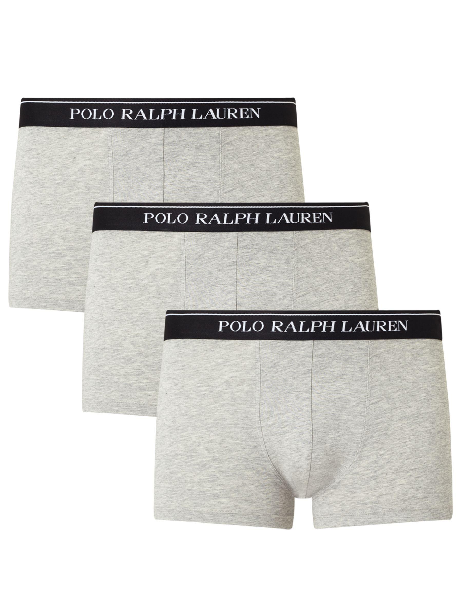 Ralph Lauren Polo Ralph Lauren Cotton Trunks, Pack of 3, Grey