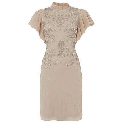 Buy Raishma Frill Cocktail Dress, Blush Online at johnlewis.com